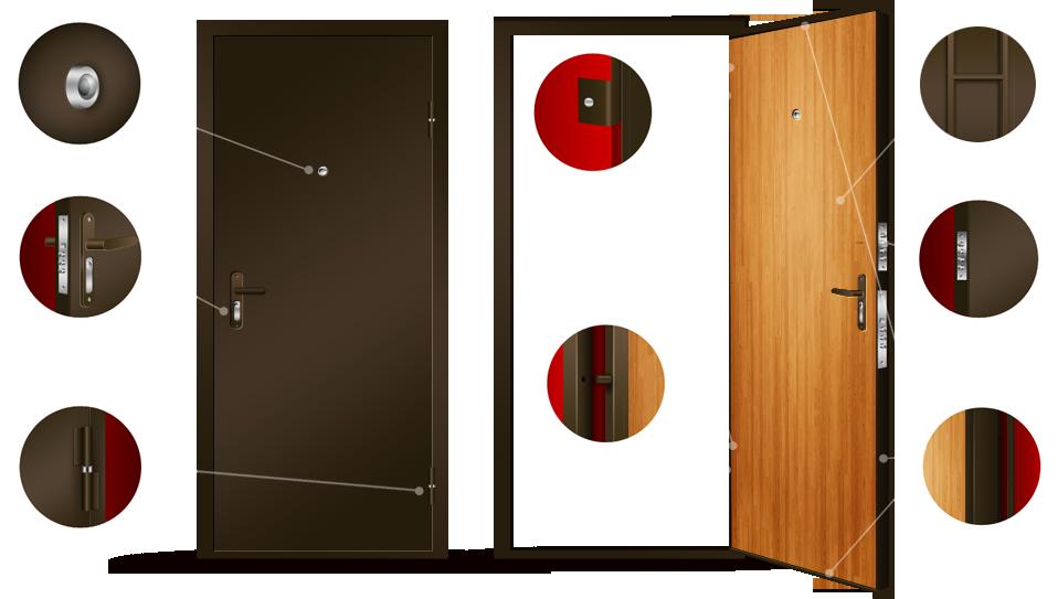 стальные двери входные фото